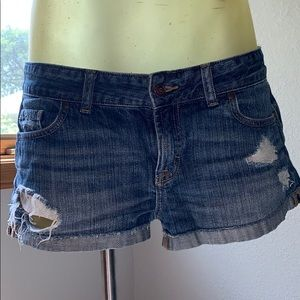 Distressed denim shorts by PINK Victoria's Secret.